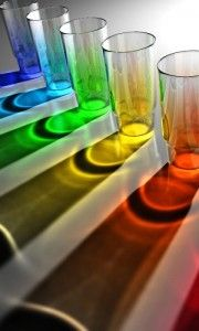 rainbow - colored water