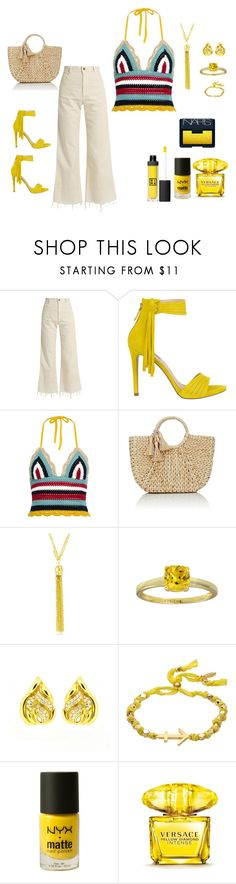 """Park Outfit"" by theresagray31 on Polyvore featuring Rachel Comey, GUESS, RED Valentino, Buji Baja, Evie & Emma, Ettika, NYX, Versace, NARS Cosmetics and 3ina"