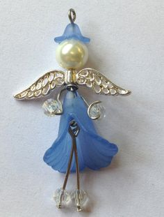 I have made so many different angels using my Lucite flower beads