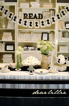 A Jane Austen Birthday Party. I would use this for a tea party. :)