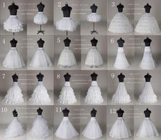 6.85AUD - 12 Style White A Line/Hoop/Hoopless/Short Wedding Crinoline Petticoat/Underskirt #ebay #Fashion
