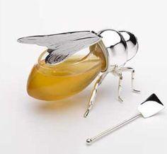 Honey, a natural sweetener.