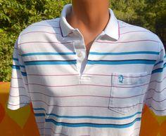 vintage 80s golf shirt polo PENGUIN stripe grand by skippyhaha, $24.00