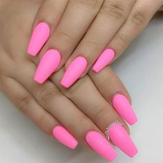 matte-pink-nails-trendy-designs-long-cof