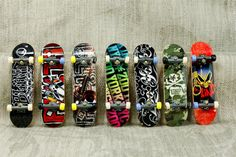Tech Deck Skateboard Finger Board Set of 7 LOT Zoo York Blind Skateboarding #TechDeck