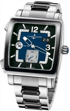 iwc portuguese regulator men s watch available through our brand ulysse nardin quadrato dual time men s watch available through our brand watches auction