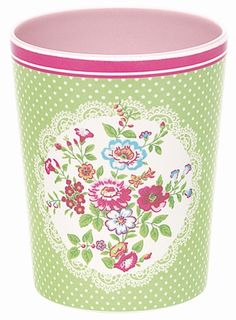 Greengate Melamine Mug Wendy Green