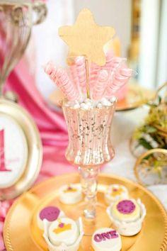 Royal PRINCESS 1st Birthday Party via Kara's Party Ideas KarasPartyIdeas.com Cake, banners, recipes, favors, and more! #princessparty #princessbirthdayparty #princesspartyideas (3)