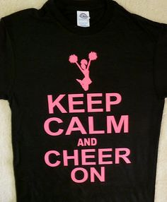 KEEP CALM AND CHEER ON ~ CHEERLEADERS T-SHIRT YMCMB,drake hip hop SMALL ~XL