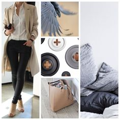 gray, beige and black