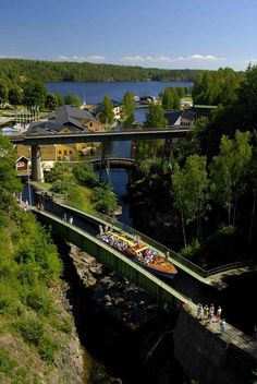 Håverud Travel Around The World, Places Around The World, Around The Worlds, Cool Places To Visit, Places To Travel, Saint Marin, Northern Lights Trips, Welcome To Sweden, Visit Sweden