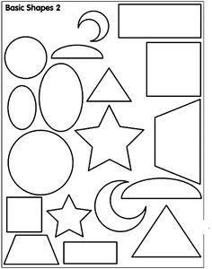 Actividades para niños preescolar, primaria e inicial. Imprimir plantillas con formas geometricas para niños de preescolar y primaria. Formas Geometricas. 67