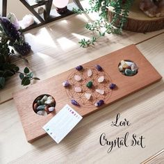 Crystal Grid Board with crystal storage pockets - coppermoonboutique