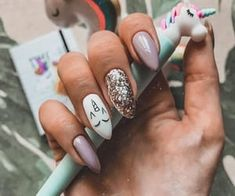 It's time to transform your dull and plain nails with these 35 stylish pointy stiletto nails designs. Truly, you can attract the crowd with just your nails! Nail Swag, Perfect Nails, Gorgeous Nails, Cute Acrylic Nails, Cute Nails, Pink Nails, My Nails, Unicorn Nail Art, Unicorn Nails Designs