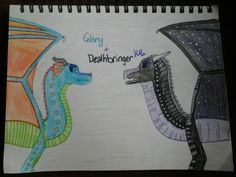 Glory and Deathbringer for @sophie3137. Drawn by Kylie Hoisington