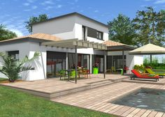 Impressive Maison Etage that you must know, You're in good company if you're looking for Maison Etage Composite Decking, Good Company, House Plans, Construction, Sweet Home, How To Plan, Architecture, Wood, Interior