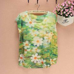 Printed summer tops for ladies