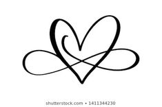Love word In the sign of infinity. Sign on postcard to Valentines day, wedding print. Vector calligraphy and lettering illustration isolated on a white background Bff Tattoos, Wrist Tattoos, Love Tattoos, I Tattoo, Tatoos, Infinity Love Tattoo, Infinity Heart, Herz Tattoo Klein, Eternity Tattoo
