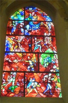 Stained Glass window in Chichester Cathedral, by Marc Chagall.