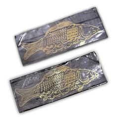 Blessed Tin Foil with Mythical Fish and Magic Spells Embossed to Attract Wealth and Fortune | $59.99