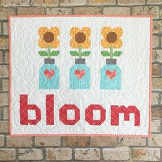 """315 Likes, 13 Comments - @beelori1 on Instagram: """"""""Bloom Where You're Planted!"""" Another mini from my new book Spelling Bee:) #bloomminiquilt…"""""""