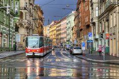 HDR of Prague in the rain