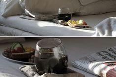 Glas med tillhörande kudde