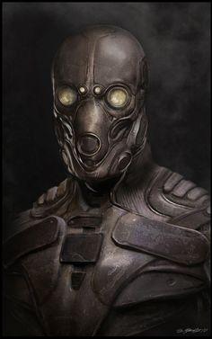 Cyberpunk, Armor, Futuristic Style, Mask, Helmet, Futuristic Clothing, Futuristic Look, P.Y.R.E Helmet by ~JSMarantz