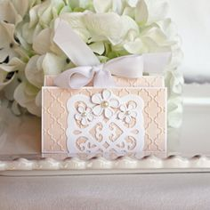Gift Card Holder for Weddings Bridal by SilverWhiteCardShop