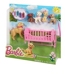 Barbie Spin 'N Ride Pups(Discontinued by manufacturer) Barbie Puppy, Barbie Doll Set, Baby Barbie, Barbie Doll House, Mattel Barbie, Barbie And Her Sisters, Barbie Family, Baby Girl Toys, Toys For Girls