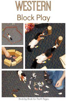 Western Block Play for Preschoolers