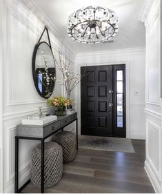 Photo shared by Home Decor/Interior Design on February 2019 tagging Home Entrance Decor, Entryway Decor, Modern Entryway, Entry Foyer, Wall Decor, Home Living Room, Living Room Designs, Living Room Ideas, Living Room Decor