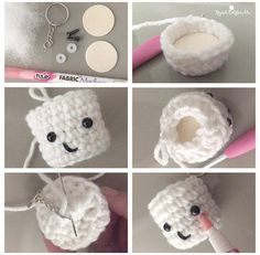 Starbucks Holiday Beverages and Crochet Marshmallow Keychains - Repeat Crafter Me