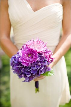 purple bridesmaid bouquets by Palmer Flowers
