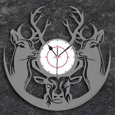 Deer Vinyl Wall Clock