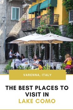 why you shouldn't skip the town of varenna in italy's lake como region! pretty pastel buildings, romantic lakeside restaurants and more! italy things to do, italy travel, milan day trips, lake como italy, #lakecomo, #italy, #shershegoes, #varenna, #northernitaly
