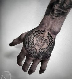 Versace Tattoo - - Versace Tattoo - - - tattoo old school tattoo arm tattoo tattoo tattoos tattoo antebrazo arm sleeve tattoo Creative Tattoos, Unique Tattoos, Small Tattoos, Cool Tattoos, Versace Tattoo, Hand Tattoos For Guys, Finger Tattoos, Hand Tattoos For Men, Tattoo Arm Mann