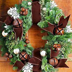 Türkranz Weihnachten Spitze Schneeflöckchen Bastelideen