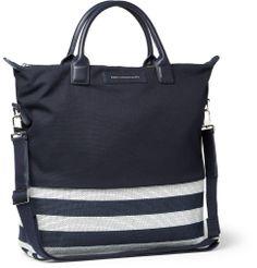 WANT Les Essentiels de la Vie  O'Hare Leather Trimmed Panelled Canvas Tote Bag