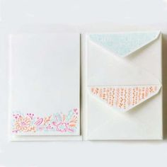 carve your own stamp, make stationery idea.  moglea stationery set pressed anemone letterquette