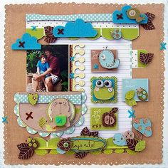 Great layout. This was a embellishment challenge done by Carole Janson