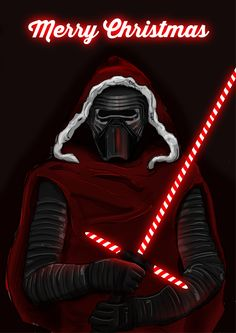 Kylo Ren merry Christmas Thought you'd like this XD Star Wars Film, Star Wars Poster, Star Trek, Kylo Ren Wallpaper, Star Wars Wallpaper, Images Star Wars, Star Wars Pictures, Star Wars Christmas, Merry Christmas