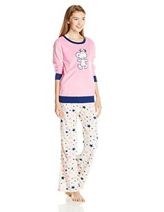 Snoopy Women s Peanuts Print Pajama Set eb4bc39c2