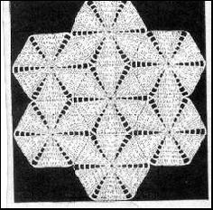 Star Doily - One motif is repeated seven times and joined to make this shaped doily. By varying the size of thread and crochet hook the doily may be made larger or smaller. This would make a beautiful bedspread by using bedspread cotton.