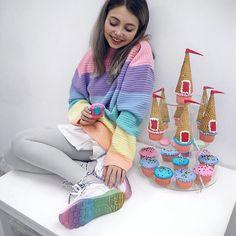 """@sheidlina being the cutest rainbow eva in #reebokxareta ✨"""