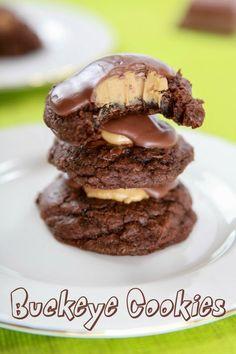Buckeye Cookies #peanut_butter #chocolate #buckeye