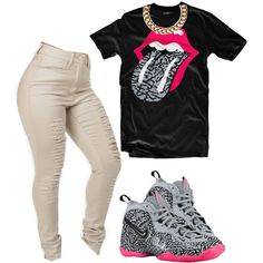 A fashion look from February 2015 featuring elephant print t shirt, khaki jeans and metal chain necklace. Browse and shop related looks.