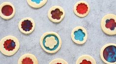 Stained Glass Cookies with endless shape and filling options! Buttery sugar cookies are cut into festive shapes and filled with your favorite candies. Homemade Hand Soap, Homemade Gifts, Biscuit Cookies, Cupcake Cookies, Holiday Baking, Christmas Baking, Christmas Treats, Christmas Cookies, Christmas Games