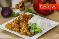 kurczak słodko-kwaśny Food Design, Grains, Tacos, Beef, Chicken, Ethnic Recipes, Meat, Ox, Ground Beef
