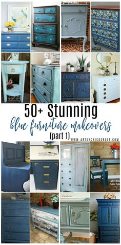 50+ Stunning Blue Furniture Makeovers!! (part 1) Lots of pretties to see!